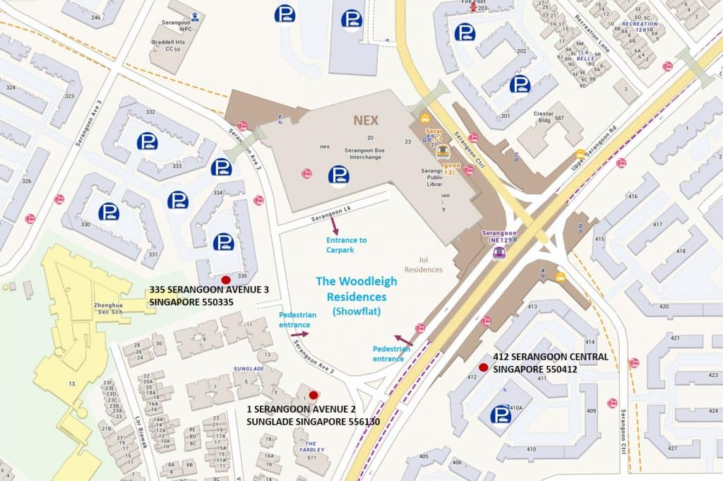 The-Woodleigh-Residences Showflat Location